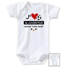Body bébé personnalisé foot J'aime la Juventus