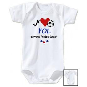 Body bébé personnalisé foot J'aime l'OL