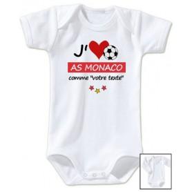 Body bébé personnalisé foot J'aime AS Monaco