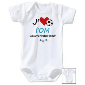 Body bébé personnalisé foot J'aime l'OM