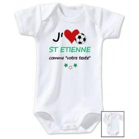 Body bébé personnalisé foot J'aime Saint Etienne