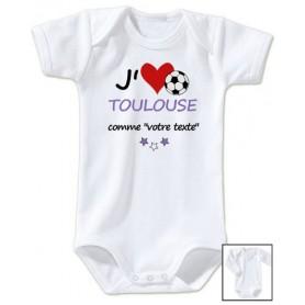 Body bébé personnalisé foot J'aime Toulouse