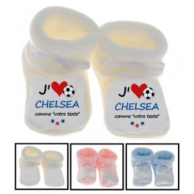 Chaussons bébé football J'aime Chelsea