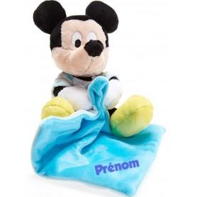 Doudou peluche Mickey personnalisé
