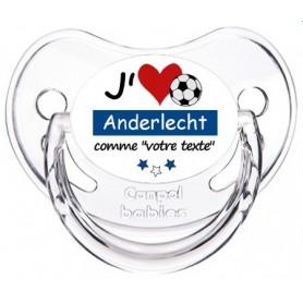 Tétine foot personnalisée J'aime Anderlecht