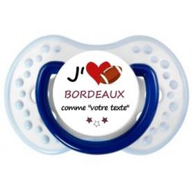 Tétine rugby personnalisée J'aime Bordeaux