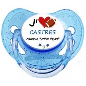 Tétine rugby personnalisée J'aime Castres