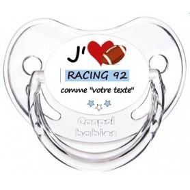 Tétine rugby personnalisée J'aime Racing 92