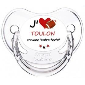 Tétine rugby personnalisée J'aime Toulon