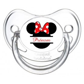 TETINE MINNIE  ROUGE PERSONNALISEE PRENOM DISNEY