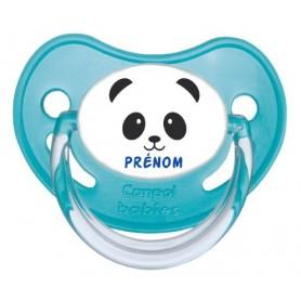 Tétine personnalisée visage panda et prénom