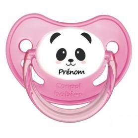 Tétine personnalisée visage panda fille et prénom