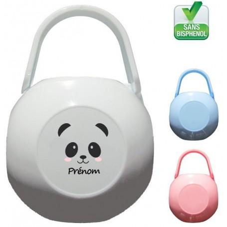 Boîte à tétine personnalisée Panda fille Prénom
