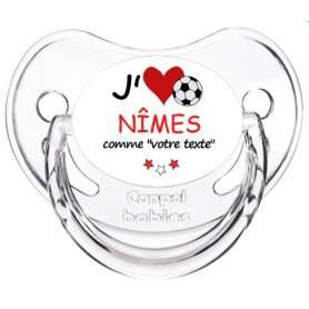 Tétine rugby personnalisée J'aime Nîmes