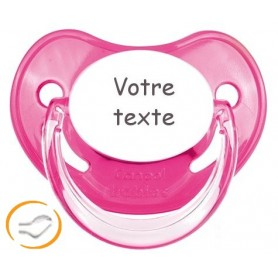 Tétine bébé personnalisée Penguins rose