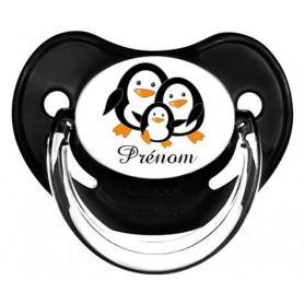 Tétine de bébé personnalisée pingouin et prénom