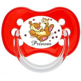 Tétine de bébé personnalisée ourson jeu et prénom