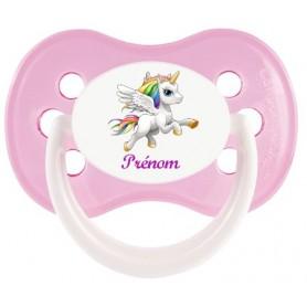 Tétine de bébé personnalisée Licorne joie et prénom