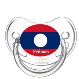 Tétine personnalisée drapeau Laos et prénom