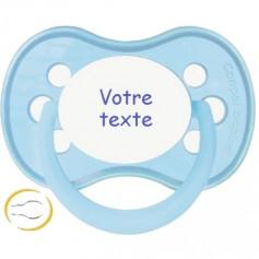 Tétine bébé personnalisée anatomique Pastel bleue
