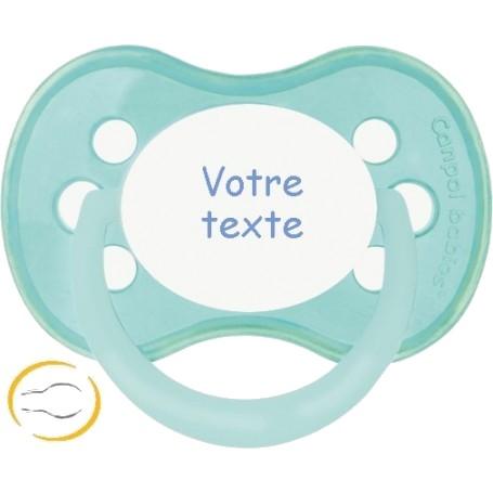 Tétine bébé personnalisée anatomique Pastel verte