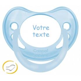 Tétine bébé physiologique pastel bleue
