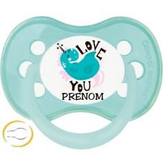 Tétine de bébé licorne turquoise personnalisée