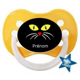Tétine personnalisée chat halloween