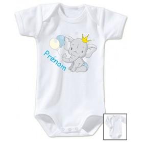 Body bébé personnalisé prénom éléphant tendresse