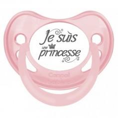"""Tétine bébé originale """"Je suis une princesse"""""""