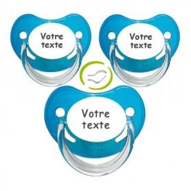 Tétines personnalisées garçon Chupa (bleu)