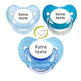 Tétines bébé personnalisées garçon (pastel, bleu,paillettes)