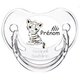 Tétine de bébé tigre blanc personnalisée