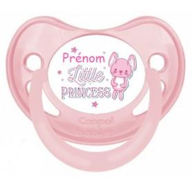 Tétine de bébé little princess personnalisée
