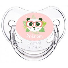 Tétine de bébé panda lunette personnalisée