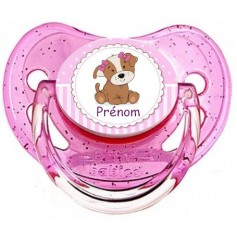 Tétine de bébé chien fille personnalisée