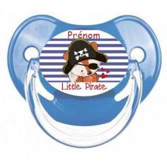 Tétine de bébé little pirate personnalisée