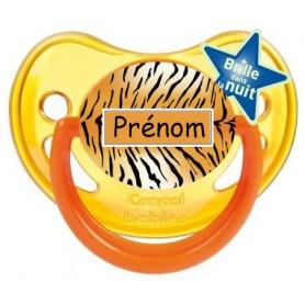 Tétine de bébé pelage tigre personnalisée