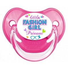 Tétine de bébé fashion girl personnalisée
