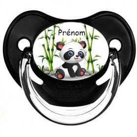 Tétine de bébé panda personnalisée