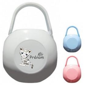 Boîte à tétine personnalisée tigre blanc