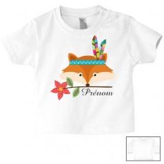 Tee-shirt de bébé renard indien personnalisé