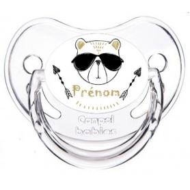 Tétine de bébé ourson lunette personnalisée