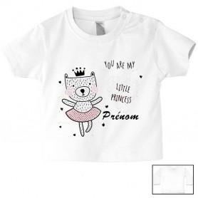 Tee-shirt de bébé you are my little princess chat personnalisé