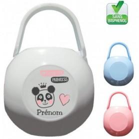 Boîte à tétine personnalisée you are princess panda
