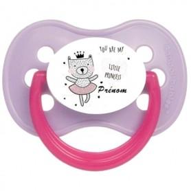 Tétine de bébé you are my little princess chat personnalisée