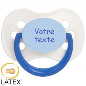 Tétine personnalisée continental bleu cerise en latex