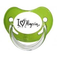 """Tétine bébé """"J'aime Algerie"""""""