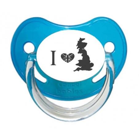 "Tétine bébé ""I love England"""