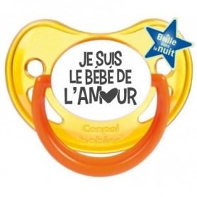"""Tétine bébé originale """"je suis le bébé de l'amour"""""""